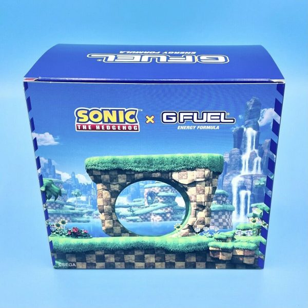G Fuel Sonic Peach Rings Collector's Box Tub + Shaker Cup + 2GO Scooper Energy 1