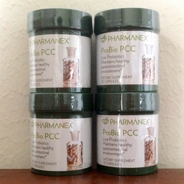 Nu Skin Pharmanex ProBio PCC x 4 contains live organisms of bacteria Exp 08/2022