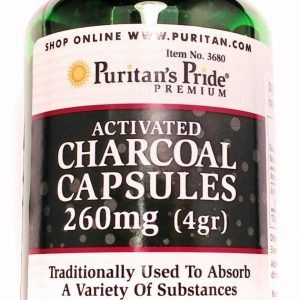 260MG Activated Charcoal 100 Capsules Digestive Aid Gas Bloating Relief Support