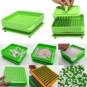 100 Holes Capsules Filling Machine Size0 00 000 1 2 3 Manual Machine Tamper Tool 1