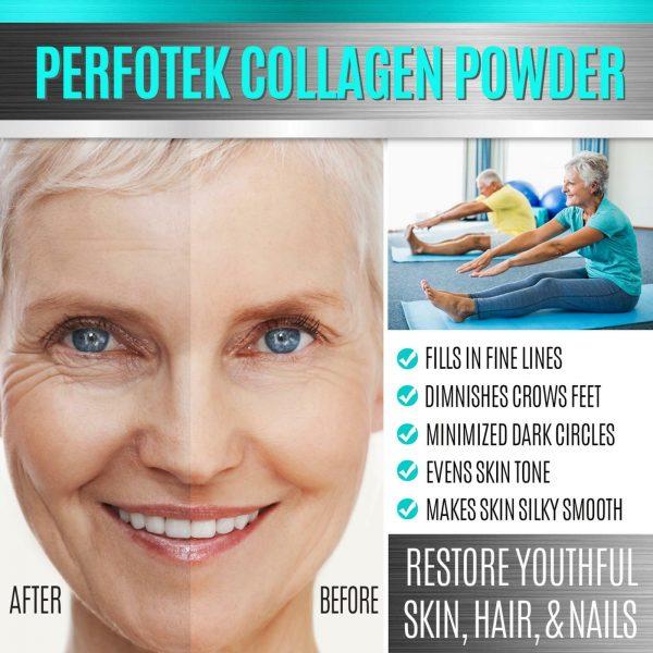 Collagen Powder Premium Peptides Hydrolyzed Anti-Aging Organic Protein 4x 1LB 10