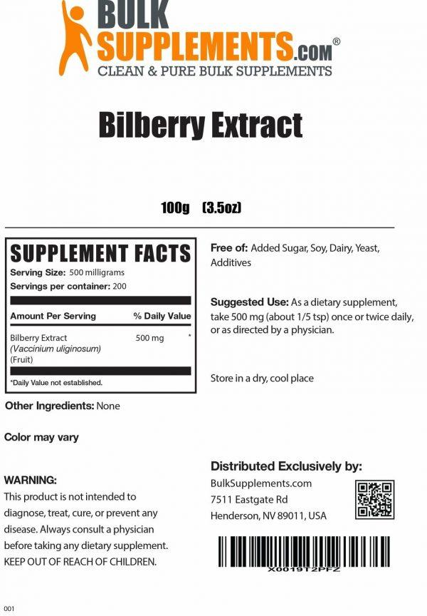 BulkSupplements.com Bilberry Extract Powder - Eye Supplements - Dry Eye 1