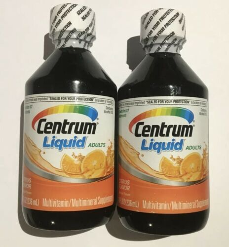 (2 BOTTLES-SEALED) Centrum Liquid Adults Multivitamin&Multimineral 8oz EXP:JN/22