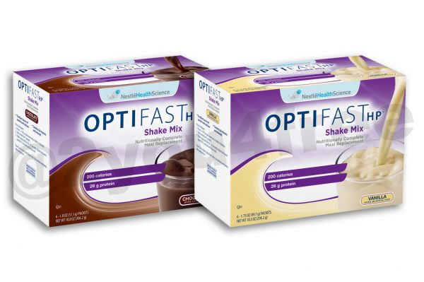 OPTIFAST® HP | HIGH PROTEIN SHAKE MIX | CHOCOLATE or VANILLA | 4 BOXES | FRESH