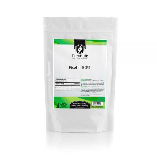 Fisetin 50% Powder Pure Third Party Lab Tested PureBulk (Variations)
