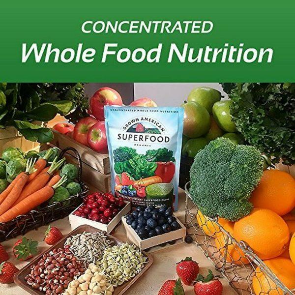Grown American Superfood: 31 Organic Whole Fruits & Veggies in Every Scoop! (2) 5