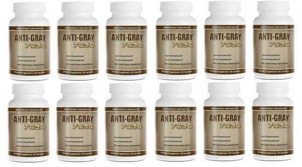 Original Anti Gray Hair 7050 60 Capsules (Pack of 12)
