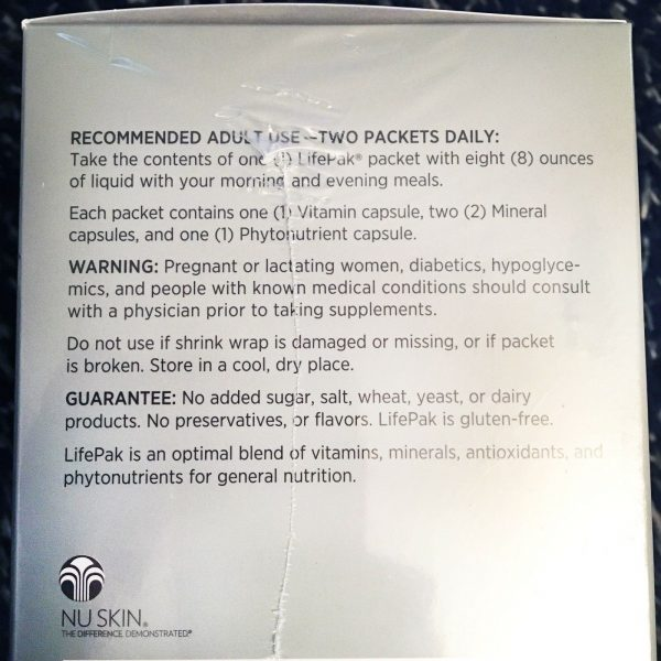 Nu Skin Nuskin Pharmanex Lifepak Life Pak Anti-Aging Nutrients Vitamins NEW 2