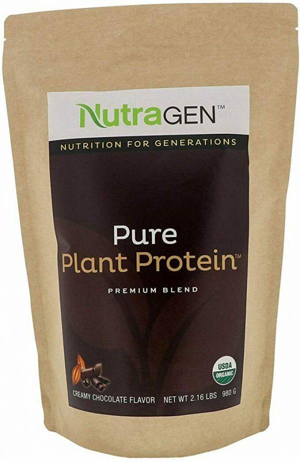 NutraGen - Pure Plant Protein - Creamy Chocolate Flavor - 35 0z