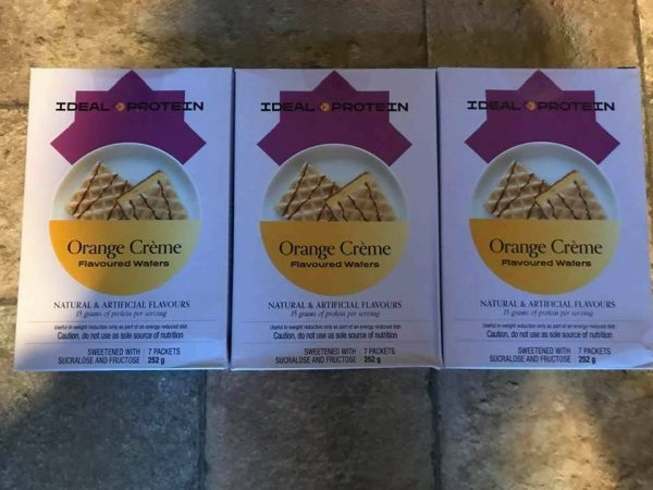 Ideal Protein 3 boxes of Orange Wafers 7 packets per box 15g protein