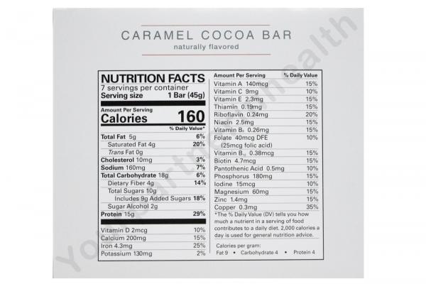 NUMETRA ROBARD BARS- CARAMEL COCOA BARS -6 BOXES-42 SERVINGS-FRESH-LIKE OPTIFAST 1