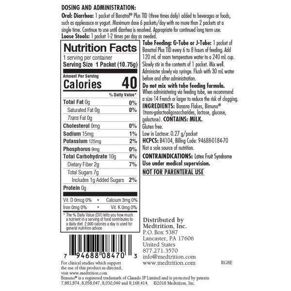 Banatrol Plus Oral Supplement Banana 10.75 Gram Packet 75 Ct 2