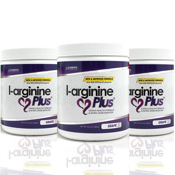 3 Bottles of Grape Flavor L-arginine Plus®