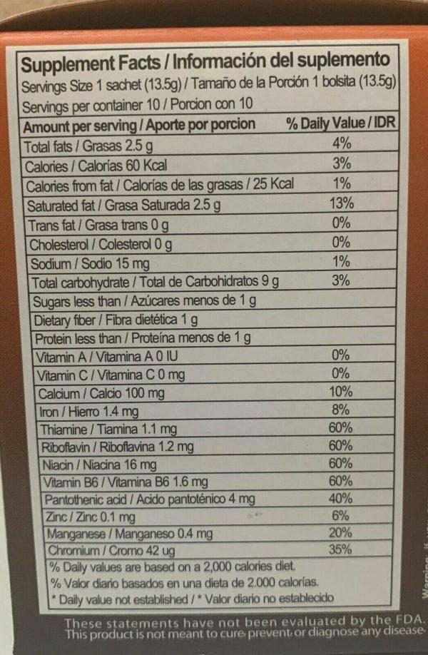 NatureGift COFFEE PLUS INSTANT coffee powder w/Fiber Ginseng, Vitamins 10bag/Box 2
