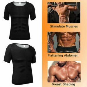 Men's Sauna Hot Sweat Heat Trapping T-shirt Fat Burner Singlet Workout Shapewear 1