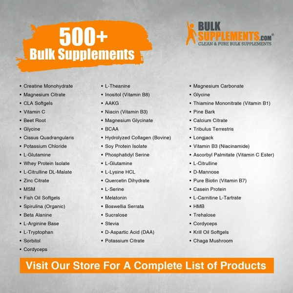 BulkSupplements.com DMAE-Bitartrate Powder - Mental Focus Supplement - ATP 6