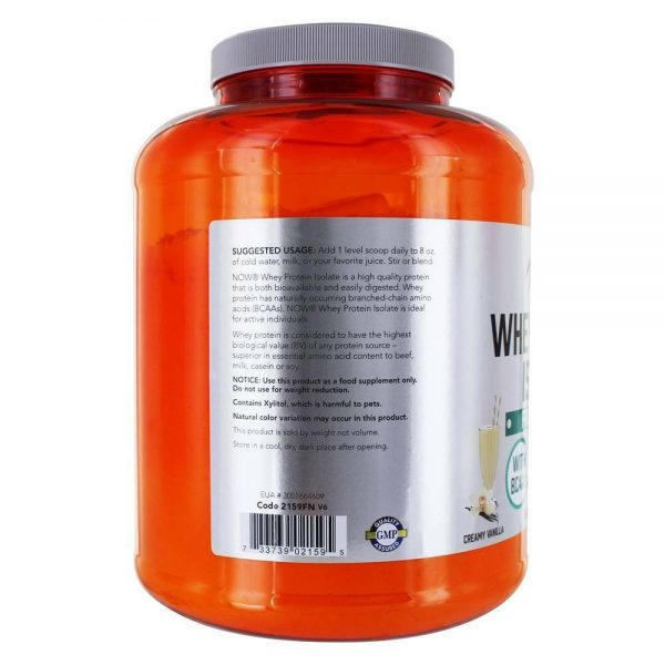 NOW Foods - NOW Sports Whey Protein Isolate Powder Creamy Vanilla - 5 lbs. 2
