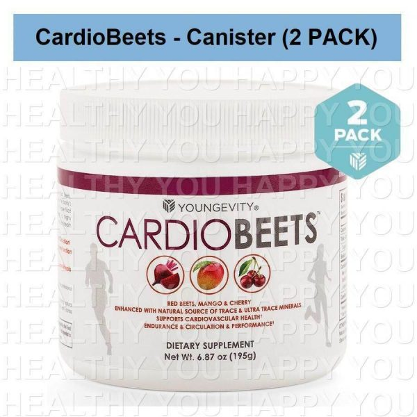CardioBeets Canister 195g (2 PACK) Youngevity Cardio Beets