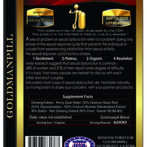 Go Goldman, Natural Male Enhancement Pill GUARANTEED POWERFUL ERECTION 10 Pills 1