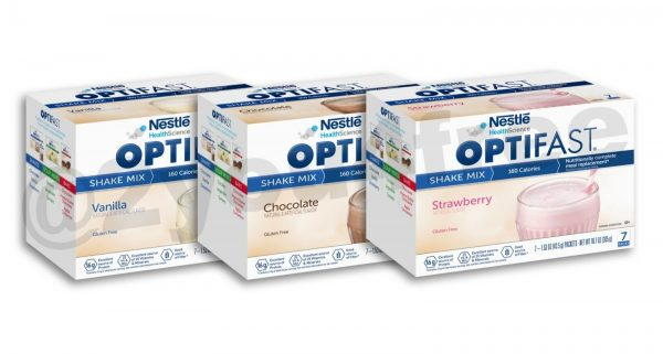 OPTIFAST® 800 CHOCOLATE, VANILLA, or STRAWBERRY SHAKE MIX   3 BOXES   AUTHENTIC