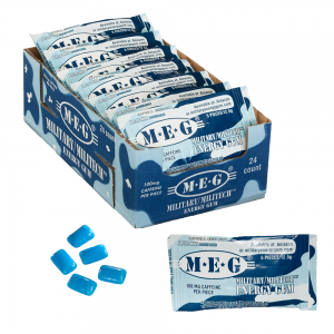 MEG - Military Energy Gum | 100mg caffeine pc | Arctic Mint 24 Pack (120 Count) 1