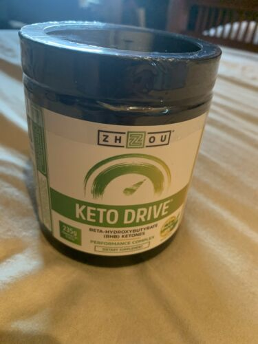 ZHOU Keto Drive BETA BHB KETONES PerformaComplex SUPPLEMENT Matcha Lemon 9/20exp