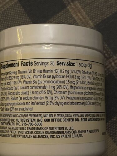 💕 Nutrisystem Berry Pomegranate Hydrating Fat Burner Dietary Supplement 28 Svg 2