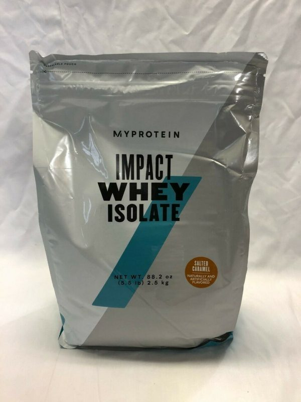 Pack of 2 - Myprotein Impact Whey Isolate Protein Powder, Salted Caramel 5.5 Lb 1