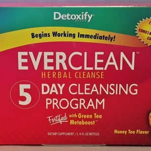 2 Boxes Detoxify Everclean Herbal Cleanse 5 Day Program with Green Tea Metaboost