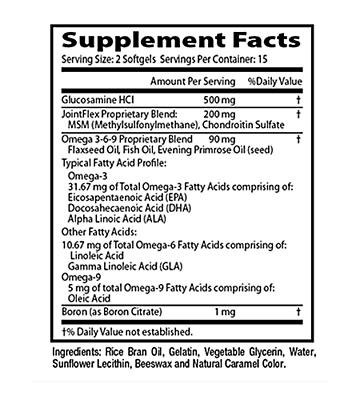 Flexitrinol Joint Health Formula - 1 Bottle - 100% Natural - Reduces Joint Pain 5
