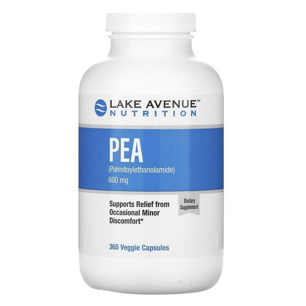 PEA (Palmitoylethanolamide), 300 mg, 365 Veggie Capsules