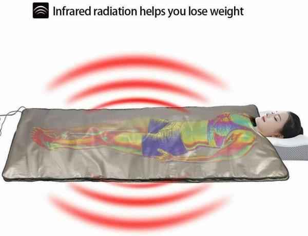 Far Infrared Sauna Blanket 2 Zone Slimming Weight Digital Controller Spa Beauty 2