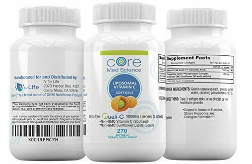 Core Med Liposomal Vitamin C Softgels 1000mg/dose - Quali®-C 3 Month  2