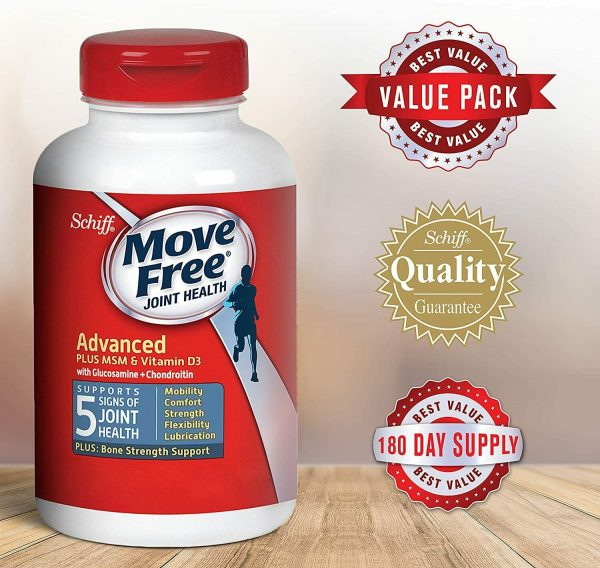 Move Free Vitamin D3, MSM, Glucosamine And Chondroitin - Advanced Tablets (120 3
