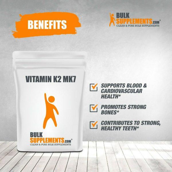 BulkSupplements.com Vitamin K2 MK7 - Heart Vitamins - Vitamin K2 Supplement 3