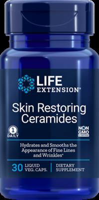 5 PACK $13.50 BEST DEAL! NEW! Life Extension Skin Restoring Ceramides wrinkles
