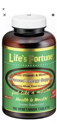 2 Pack Life's Fortune Multi Vitamin Mineral Natural Energy 180 same day ship