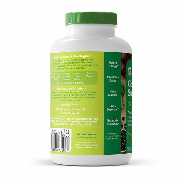 Amazing Grass Green Superfood Capsules: Super Greens with Spirulina,... 6