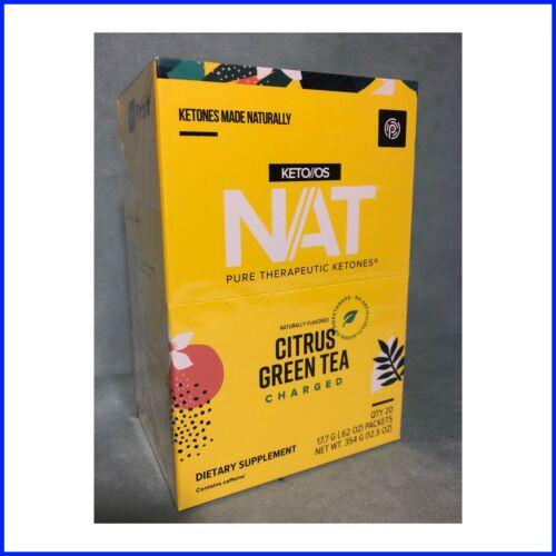 Pruvit NAT Ketones New CITRUS GREEN TEA Charged New Sealed Box 20 Pack Exp 10/22