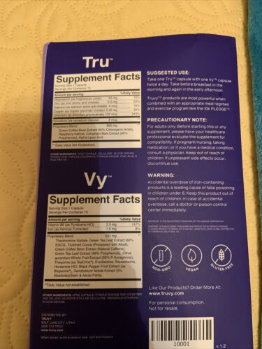 Truvy Tru & Vy Boost 30 Day Supply Loss Weight. Entergy an appetite suppressant 2