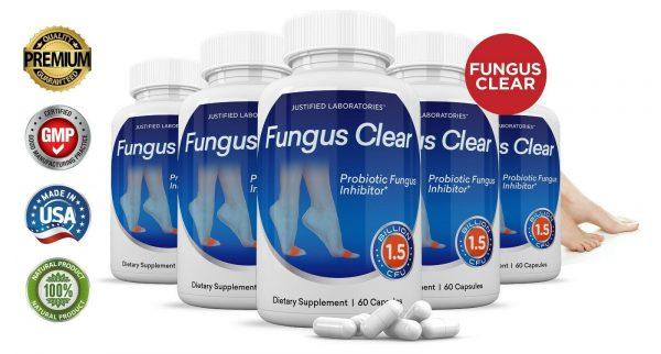 Fungus Clear Premium Probiotic 1.5 Billion CFU Improves Toe Nail Health 5 Pack