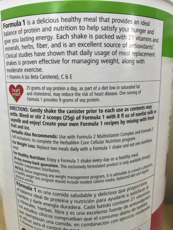 NEW HERBALIFE FORMULA 1 HEALTHY MEAL SHAKE AND PROTEIN DRINK MIX (MULTI FLAVORS) 4
