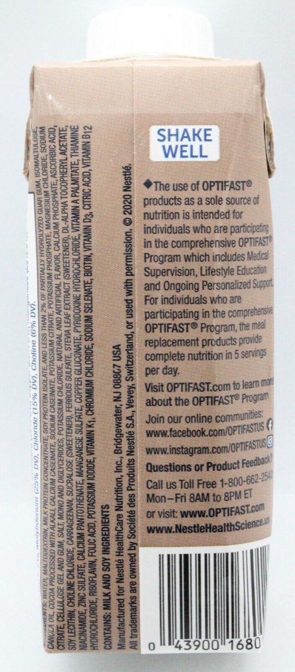 OPTIFAST® 800 READY-TO-DRINK SHAKES | CHOCOLATE | 24 SERVINGS | NEW & FRESH  1