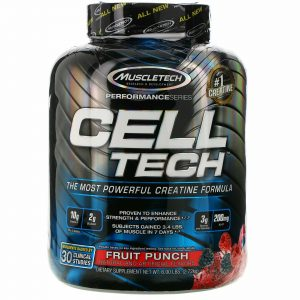 Performance Series, CELL-TECH, The Most Powerful Creatine Formula, Fruit Punch,