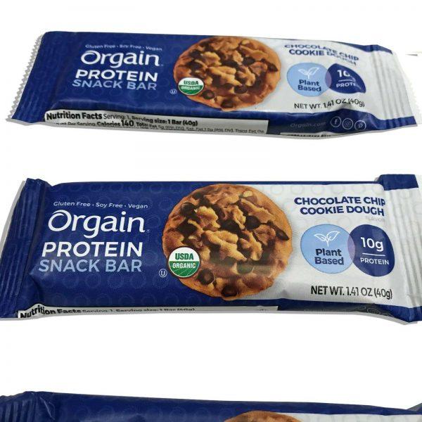 144 Orgain Protein Snack Bar Organic 1.41oz Plant Based Gluten Free Best By 4/21 3