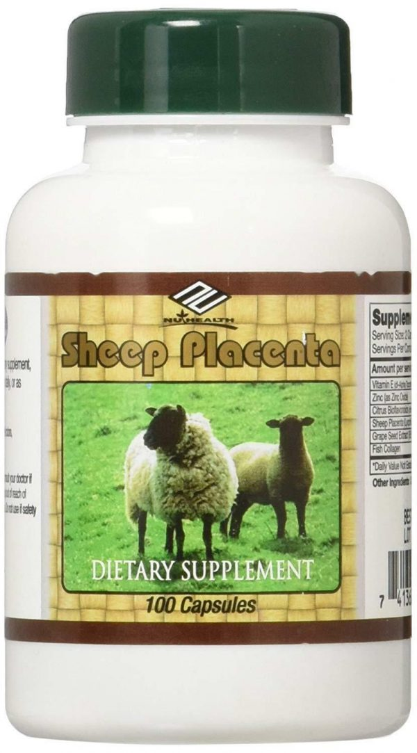 Nu-Health Sheep Placenta Complex 100 Capsules Dietary Supplement Pack of 8. USA 4