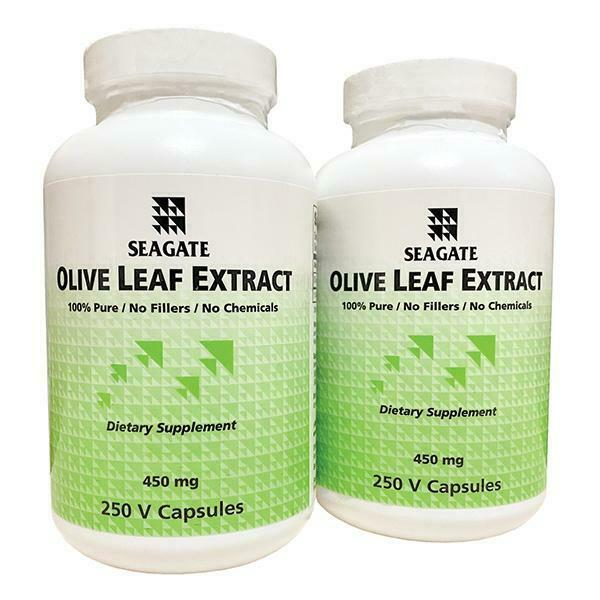 """Seagate Olive Leaf Extract 450 mg 250 V Caps """"Buy One Get One Free"""""""