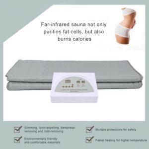 110V 2 Zone Far Infrared Fir Sauna Blanket Slimming Portable Weight Loss Detox