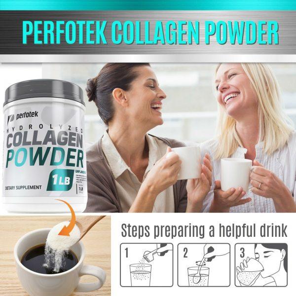 Collagen Powder Premium Peptides Hydrolyzed Anti-Aging Organic Protein 4x 1LB 6