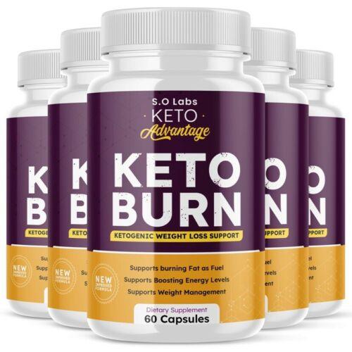 Keto Advantage Keto Burn Pills Weight Loss Advanced Ketosis Supplement - 5 Pack